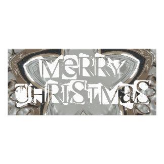 God jul för stjärna för silvervitgrått skina reklamkort