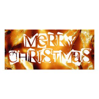 God jul förkopprar den guld- skina stjärnan reklamkort