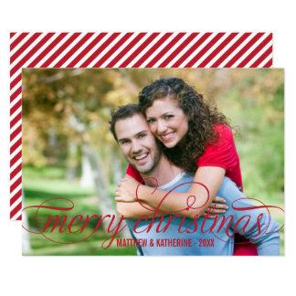 God jul foto somkort röd | skrivar, överdrar 12,7 x 17,8 cm inbjudningskort