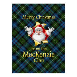 God jul från den MacKenzie klan Vykort