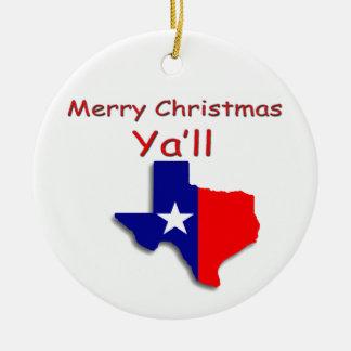 God jul från den Texas prydnaden Julgransprydnad Keramik
