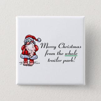God jul från det hela släpet parkerar standard kanpp fyrkantig 5.1 cm