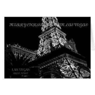 GOD JUL FRÅN det LAS VEGAS Eiffel torn Hälsnings Kort