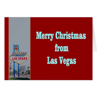 God jul från det Las Vegas kortet Kort