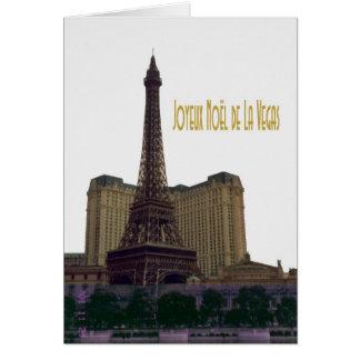 God jul från Las Vegas Eiffel tornkort Hälsnings Kort