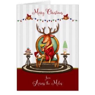God jul från över Milesrenen Hälsningskort