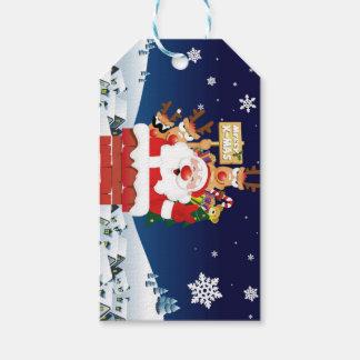God jul från Santas besättning Presentetikett