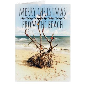 God jul från strandkortet hälsningskort