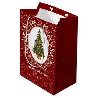 God jul. Gåvan för anpassningsbarnamnpapper hänger
