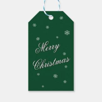 God jul görar grön gåvamärkren presentetikett