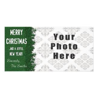God jul görar grön snowflaken fotokort