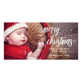 God jul & gott nytt årCalligraphy Fotokort