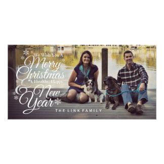God jul & gott nytt årfotokort fotokort