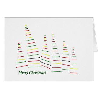 God jul. Grästräd. Skog. Holidays. Hälsningskort