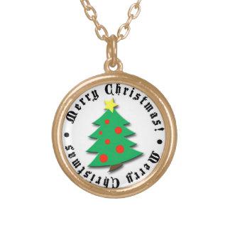god jul guldpläterat halsband