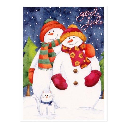 God Jul / Happy Christmas Vykort