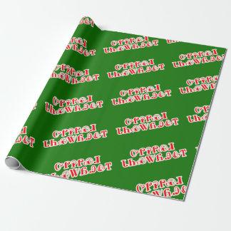 God jul i Cherokee slående in papper Presentpapper