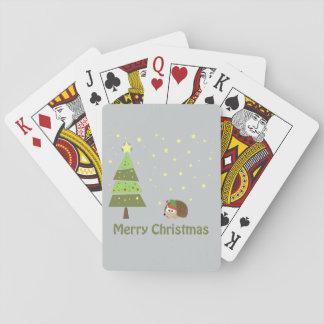 God jul! Igelkottälva Spelkort