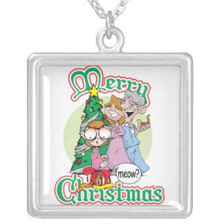 God jul jamar halsband med fyrkantigt hängsmycke