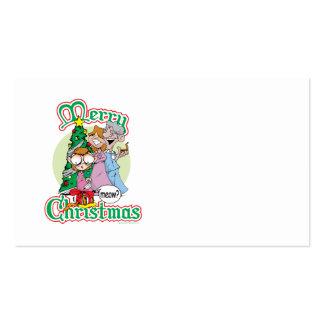 God jul jamar set av standard visitkort