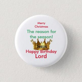 God jul klämmer fast rundan mini knapp rund 3.2 cm