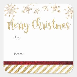 God jul kvadrerar klistermärkear fyrkantigt klistermärke