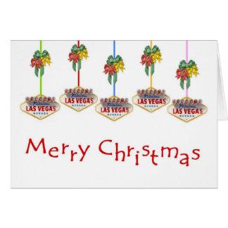 God jul Las Vegas undertecknar logotyperkortet Hälsningskort