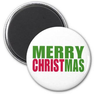 God jul magnet rund 5.7 cm