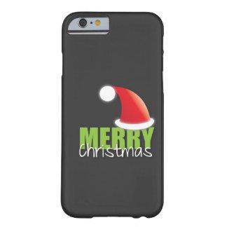 God jul med den gulliga santa hatten barely there iPhone 6 fodral