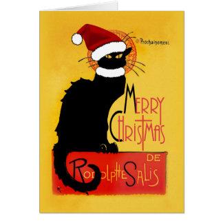 God jul - Noir chatta Hälsningskort