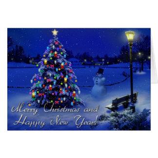 god jul och gott nytt år hälsningskort