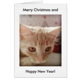 God jul och gott nytt år! hälsningskort