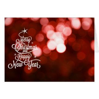 God jul- och gott nytt årvykort hälsningskort