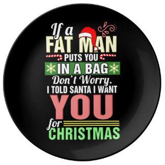 God jul och jultomten porslinstallrik