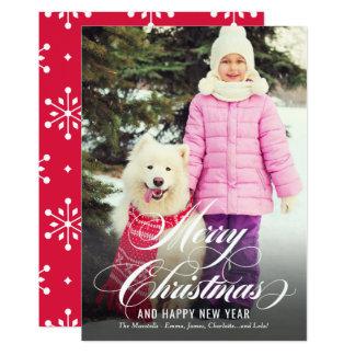 God jul överdrar det | helgdagfotoet 12,7 x 17,8 cm inbjudningskort