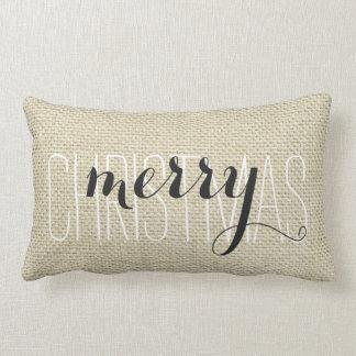 """""""God jul"""" personliglinne Lumbarkudde"""