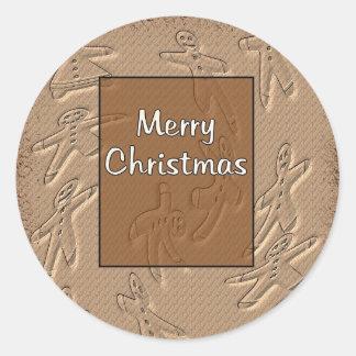 God jul runt klistermärke