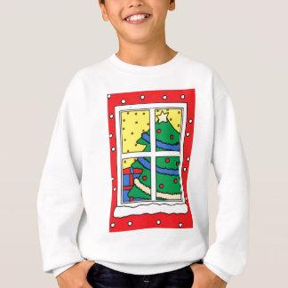 God jul, santa, gåvor och snö tee