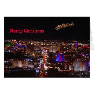 God jul Santa & renLas Vegas kort