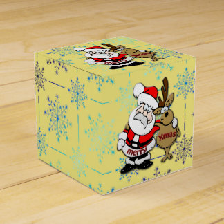 God jul Santa & Rudy - favören boxas Presentaskar