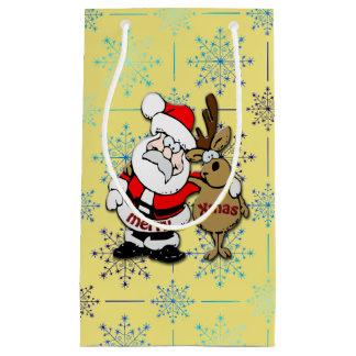 God jul Santa & Rudy - gåvan hänger lös