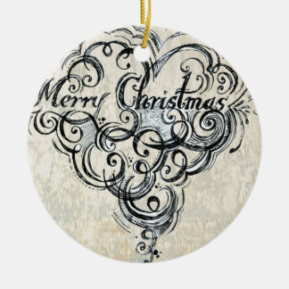 God jul smyckar, (guld) rund julgransprydnad i keramik