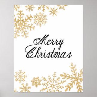 God jul - snöflingor - affisch