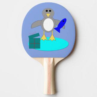 God jul som fiskar pingvinpingen Pong, paddlar Pingisracket
