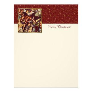 God jul som förebådar änglarKristusbrevhuvudet Brevhuvud