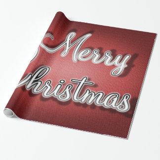 God jul som slår in papper presentpapper