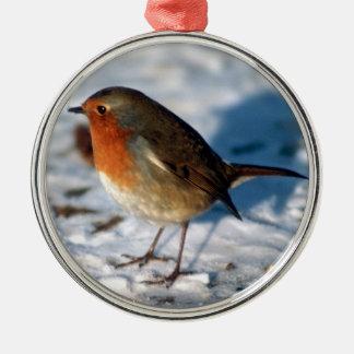 God jul söta Robin i snön Julgransprydnad Metall