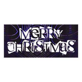 God jul svärtar purpurfärgad Kaleidoscopedesign Reklamkort