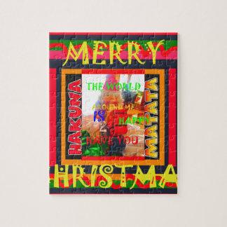 God jul världen runt om mig är lycklig till ha pussel