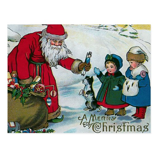 """God jul"" vintage Vykort"